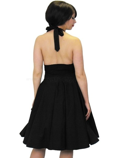 black swing dress on Black Cotton Feronia Rockabilly Swing Dress   Dresses