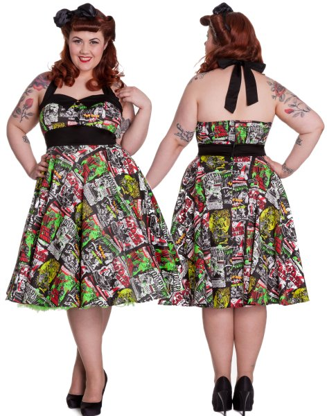 B-Movie Rockabilly Swing Dress by Hell Bunny