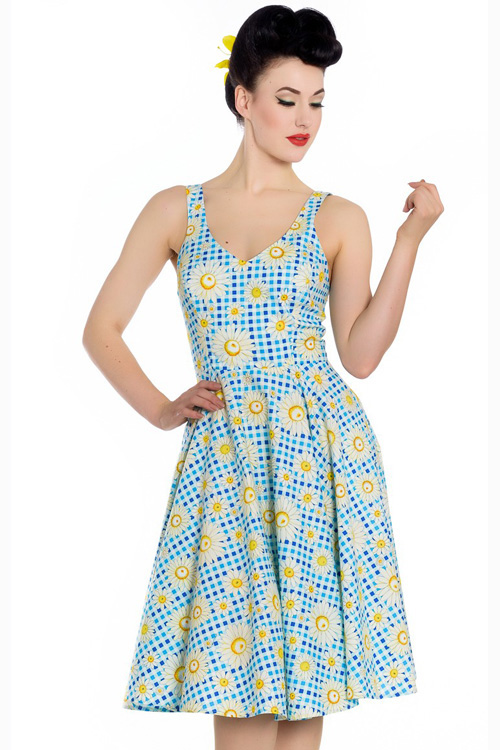 Sunshine Daisy 50's Dress by Hell Bunny - PLUS SIZES ONLY