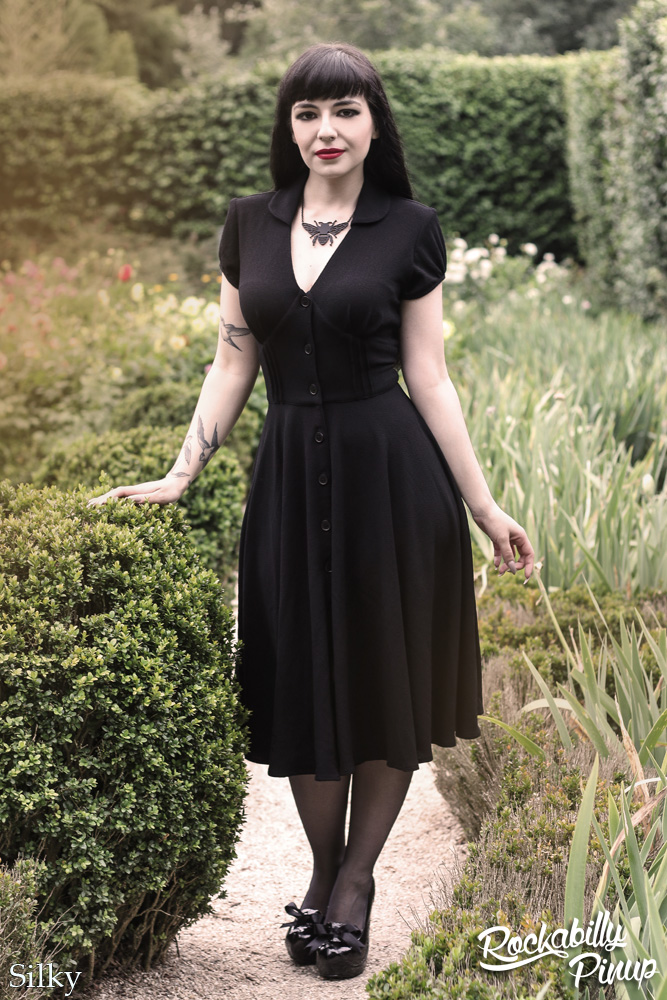 Keely Black Dress by Hell Bunny
