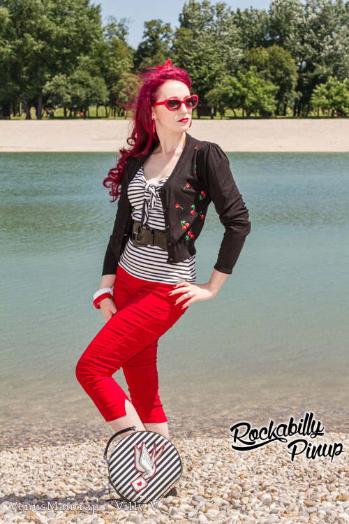 Drive Me Crazy Cherries Black Cropped Cardigan by Banned