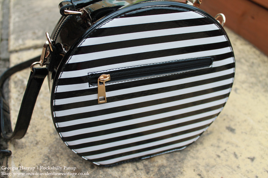 Anchor & Heart Striped Bag by Hell Bunny