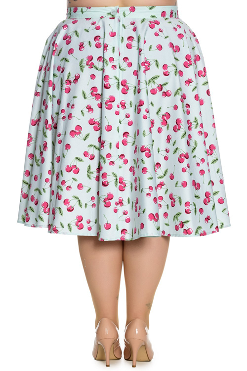 April Cherries on Mint 50's Skirt by Hell Bunny