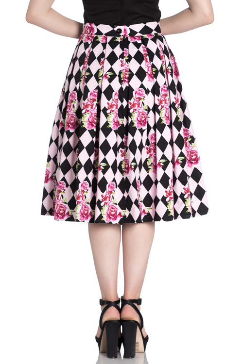 Harlequin 50's Skirt by Hell Bunny