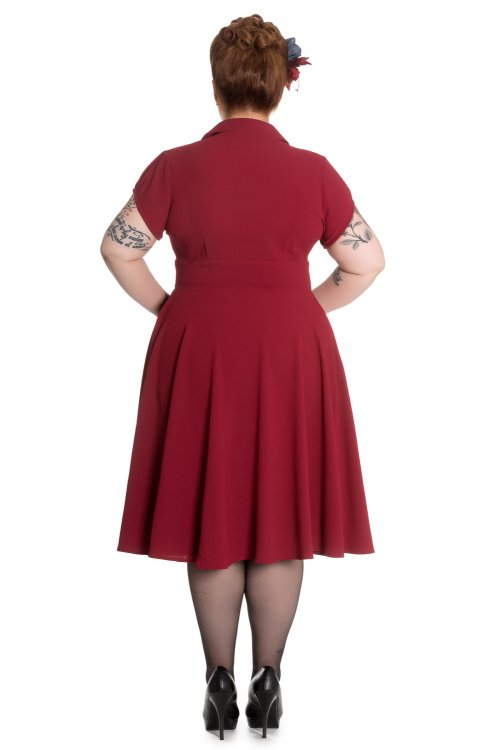 Keely Red Dress by Hell Bunny