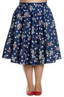 Oceana Anchors Blue 50's Skirt by Hell Bunny