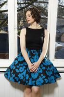 Teal Shades Two-Tone Tea Dress  - uk14 ONLY