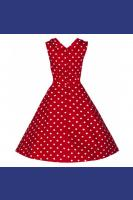Ophelia Red with White Polkadot  Prom Swing Dress by Lindy Bop