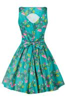 Tea Dress Summer Flamingo by Lady Vintage - uk8 ONLY