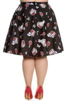 Drink Me Black 50's Skirt by Hell Bunny