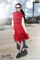 Dottie Red with Black Polkadot 50's Dress - UK20 ONLY