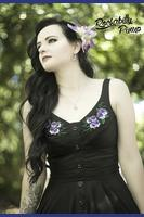 Bessie Pansy Floral Black Dress XS ONLY