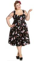 Drink Me Alice in Wonderland 50's Dress by Hell Bunny - XS ONLY