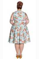 Somerset Apple Blossom Blue 50's Dress by Hell Bunny