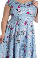 Belinda Blue Floral 50's Summer Dress - S ONLY