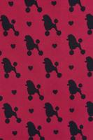 Fifi Poodle Print Burgundy Dress by Lady Vintage