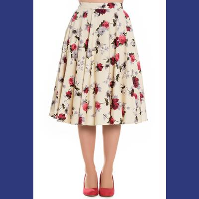 Cecily Roses on Cream 50's Skirt by Hell Bunny