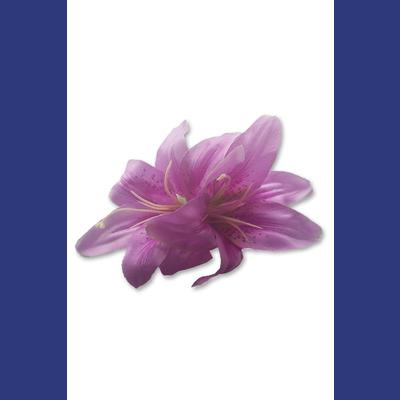 Double Lily Lilac Flower Hair Clip