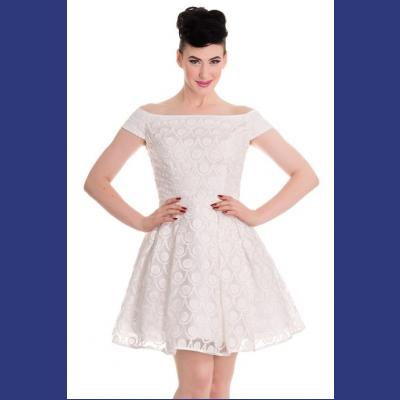 Paris Ivory Dress by Hell Bunny - S ONLY