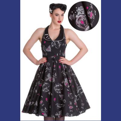 Kalonice 50's Dress by Hell Bunny - S ONLY