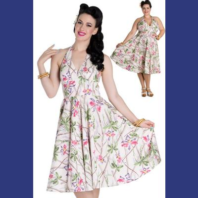 Bamboo 50's Dress by Hell Bunny