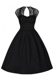 Verona Black Lace Swing Dress by Lindy Bop