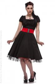 Black Cotton Vintage Dress by Hearts & Roses