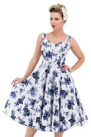 Rosaceae Blue Floral 50's Swing Dress