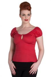 Melissa Red Gypsy Top by Hell Bunny