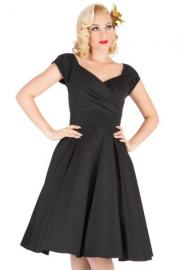 Black Rosetta Swing Dress by Lady Vintage UK8 ONLY