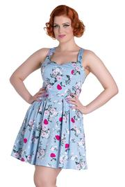 Belinda Blue Floral Mini Summer Dress by Hell Bunny