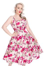 Samantha Roses Floral 50's Rockabilly Summer Dress - S ONLY