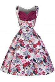 Ophelia Plum Butterfly Rockabilly Dress by Lindy Bop