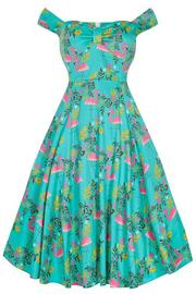 Josie Summer Flamingo Dress by Lady Vintage