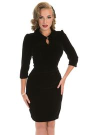 Glamorous Black Velvet Wiggle Dress - UK14 ONLY