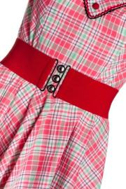 Red Retro Elastic Nurses Belt by Hell Bunny