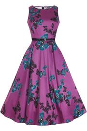 Hepburn Purple Butterfly Dress by Lady Vintage