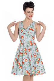 Somerset Apple Blossom Blue 50's Dress - 4X ONLY