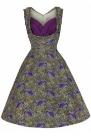 Ophelia Purple Floral Romantic Dress - UK8 ONLY