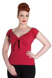 Bardot Red Top by Hell Bunny
