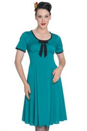 Alveira Teal Dress by Hell Bunny