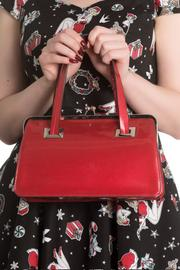 Tippi Red Glitter Handbag Bag by Hell Bunny