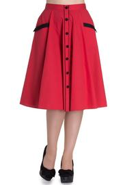 Martie Red Polkadot 50's Skirt by Hell Bunny