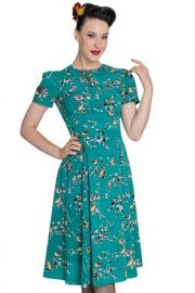 Birdy Teal Pinup Dress by Hell Bunny