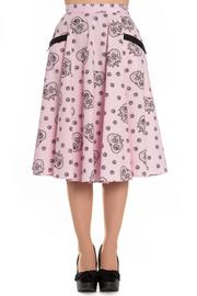 Keepsake Sugarskull Pink 50's Skirt by Hell Bunny