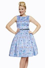 Audrey Alice in Wonderland Lilac Swing Dress by Lindy Bop