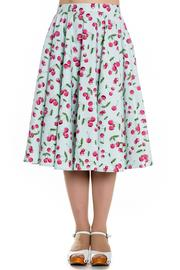April Cherries on Mint 50's Skirt by Hell Bunny - PLUS SIZE ONLY