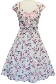 Isabella Cream Birdcage Rockabilly Dress UK28/30 ONLY