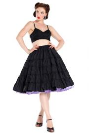 Black Full Circle Skirt by Penoze