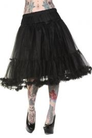 27 inch Black Fuller Petticoat by Banned